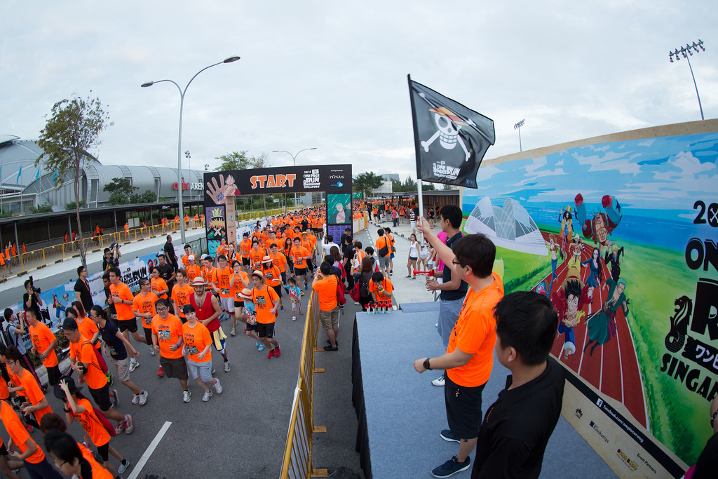 [Photos] First Ever ONE Piece Run in Southeast Asia took place at Kallang in Singapore