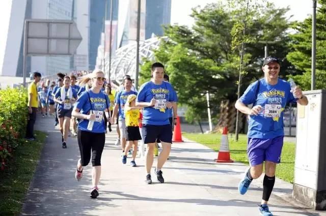 精灵宝马拉松新加坡开跑,皮卡丘已经占领滨海湾