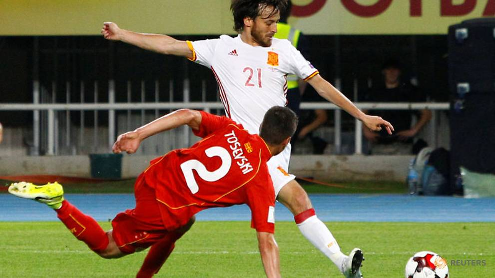 Silva and Diego Costa on target as Spain beat plucky Macedonia