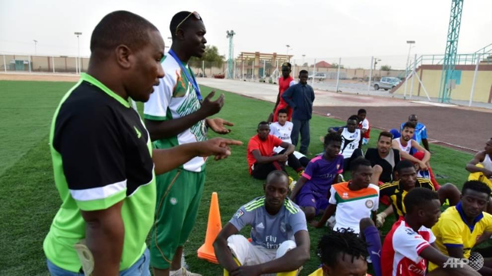 Migrants in limbo power Niger football club