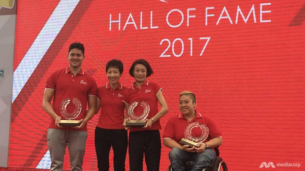 Joseph Schooling, Theresa Goh, Laurentia Tan enter Singapore's Sport Hall of Fame