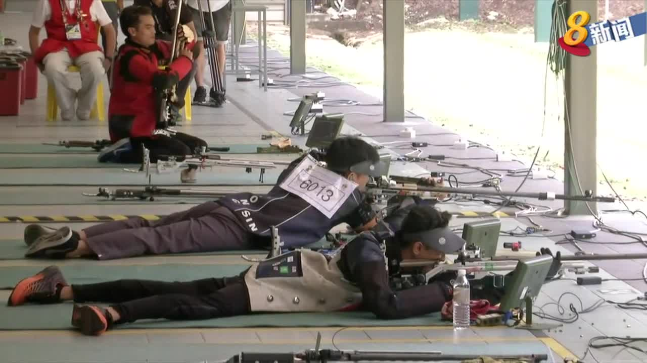 东运会男子50米步枪卧姿 老将王竣鸿勇夺银牌