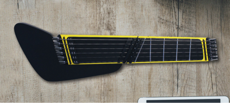 The Jammy is a steel string guitar that fits in a pocket