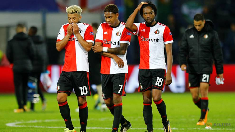 Shell-shocked Feyenoord admit they were out of their depth