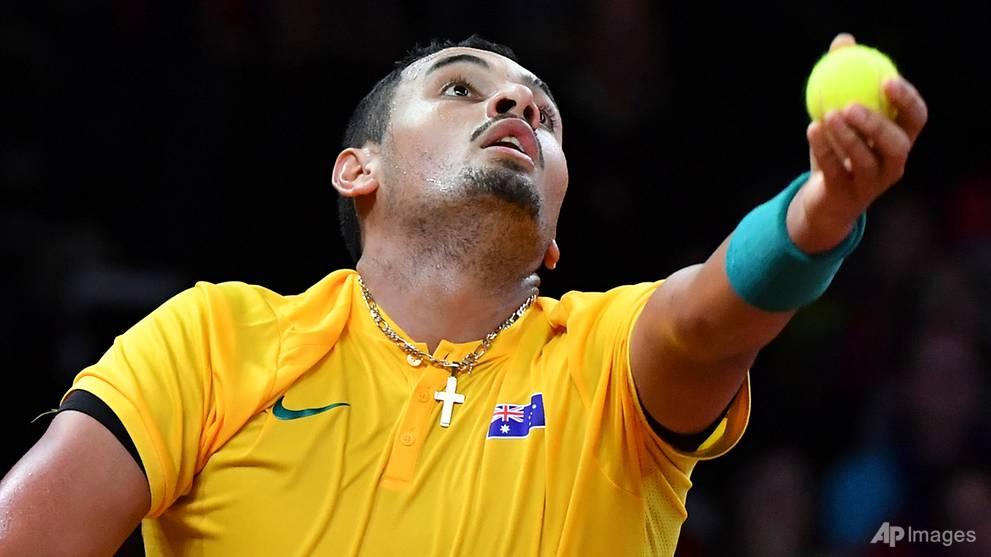Tennis: 'Not serious' Kyrgios pulls Aussies level in Davis Cup