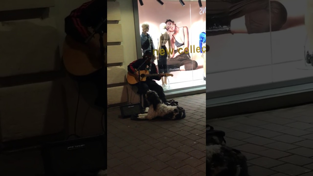Buskers duet with his best friend