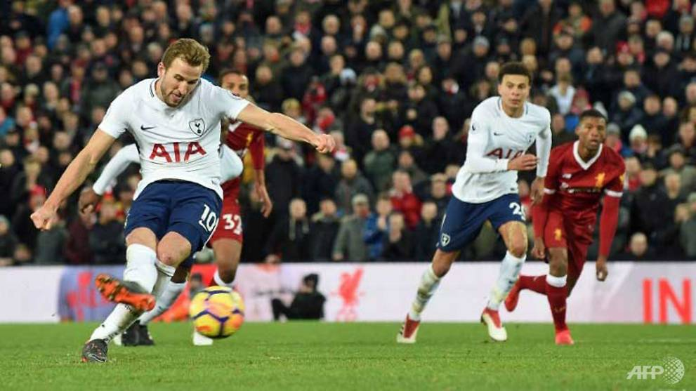 Football: Kane denies diving after Anfield penalty row