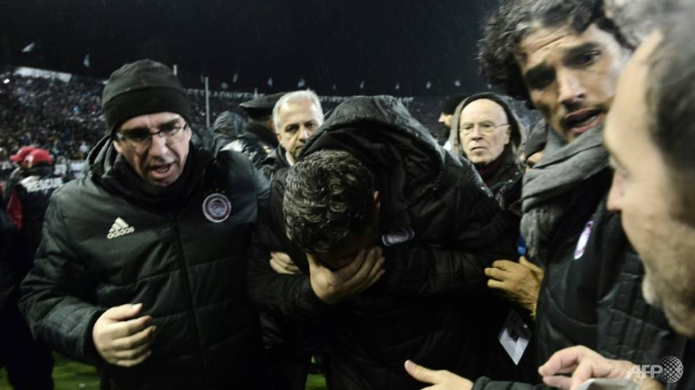 Football: Police guard for coach injured by toilet roll at Greek game