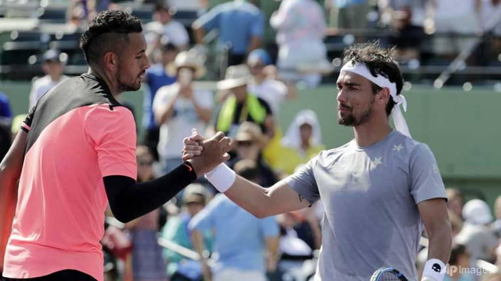 Tennis: Kyrgios cruises into fourth round of Miami Open