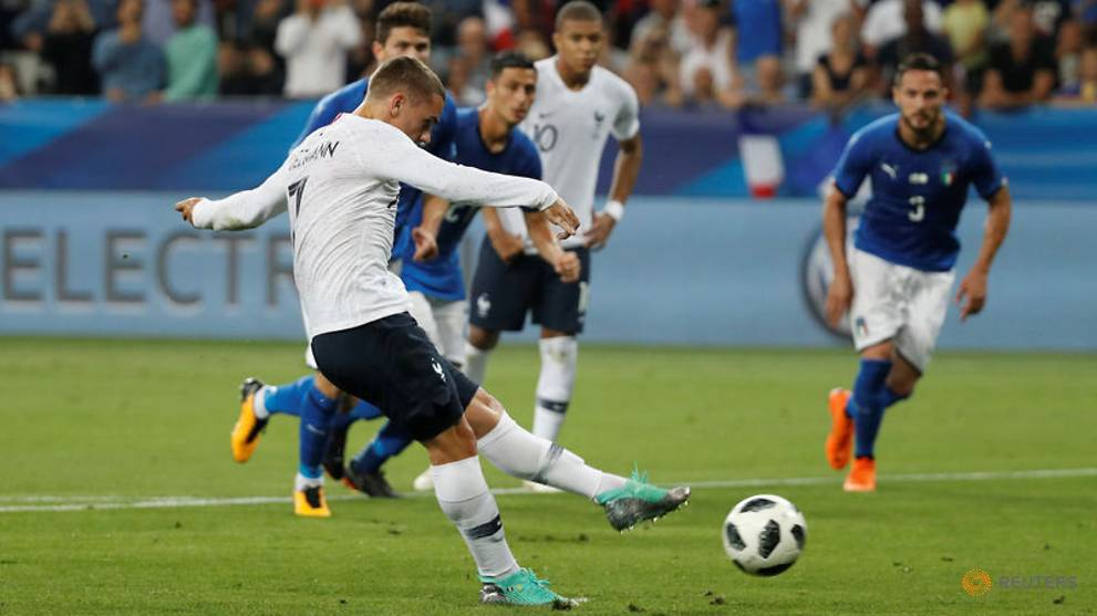 Soccer-France show attacking force as they down Italy 3-1
