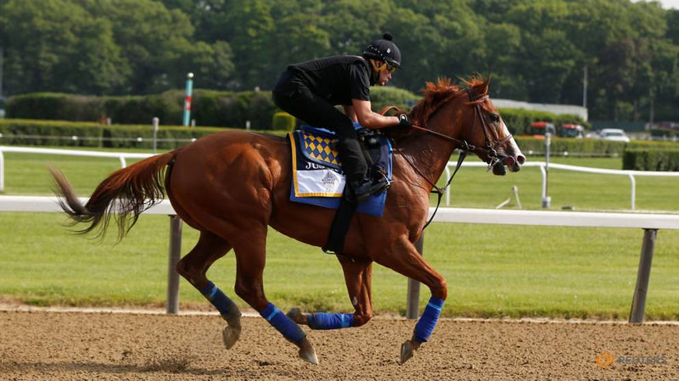 Horse racing - Justify claims Triple Crown with win at Belmont Stakes