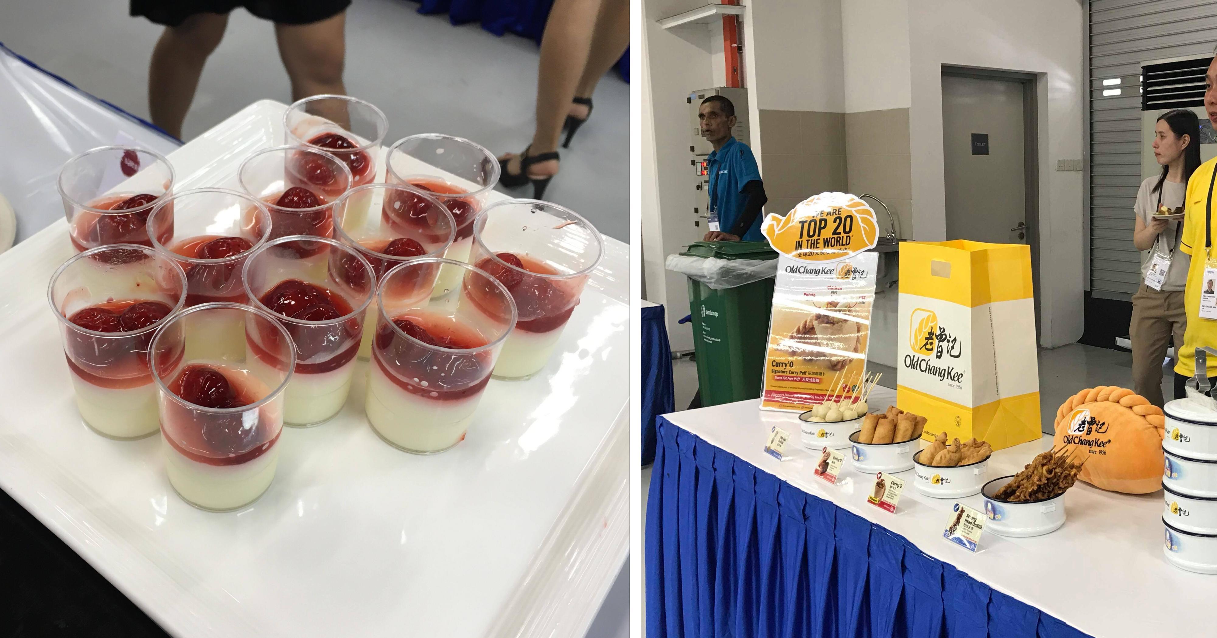 Journalists fed copious amounts of free good food at F1 Pit Building Trump-Kim summit media centre