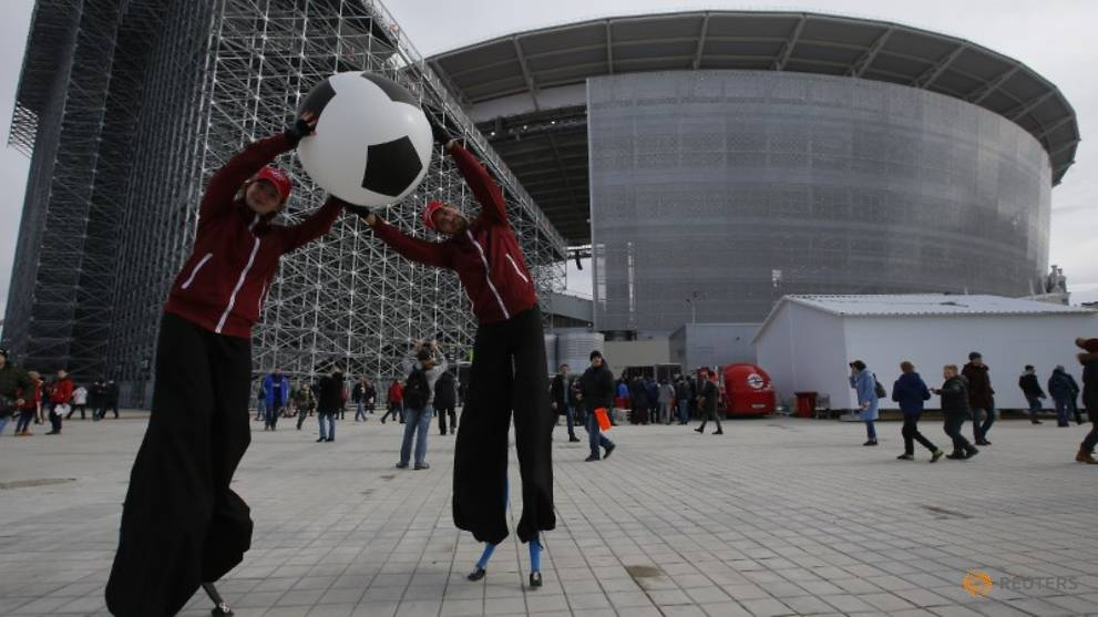 Yekaterinburg stadium goes 'inside out' for World Cup