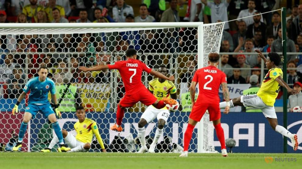 England beat Colombia on penalties to reach last eight