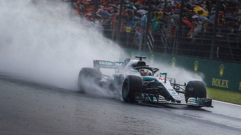 Hungarian GP: Hamilton snatches pole in drenched qualifying