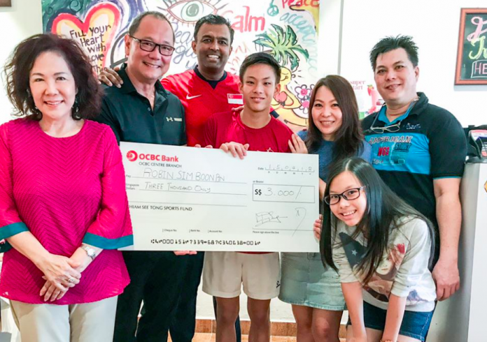 National youth gymnast Robin Sim gets timely aid from the Chiam See Tong Sports Fund
