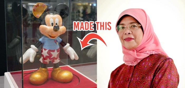 President Halimah designs her own Mickey to celebrate National Day