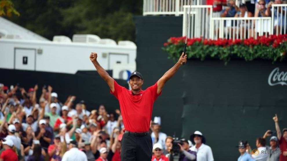 Golf: Woods wins Tour Championship, ending five-year drought