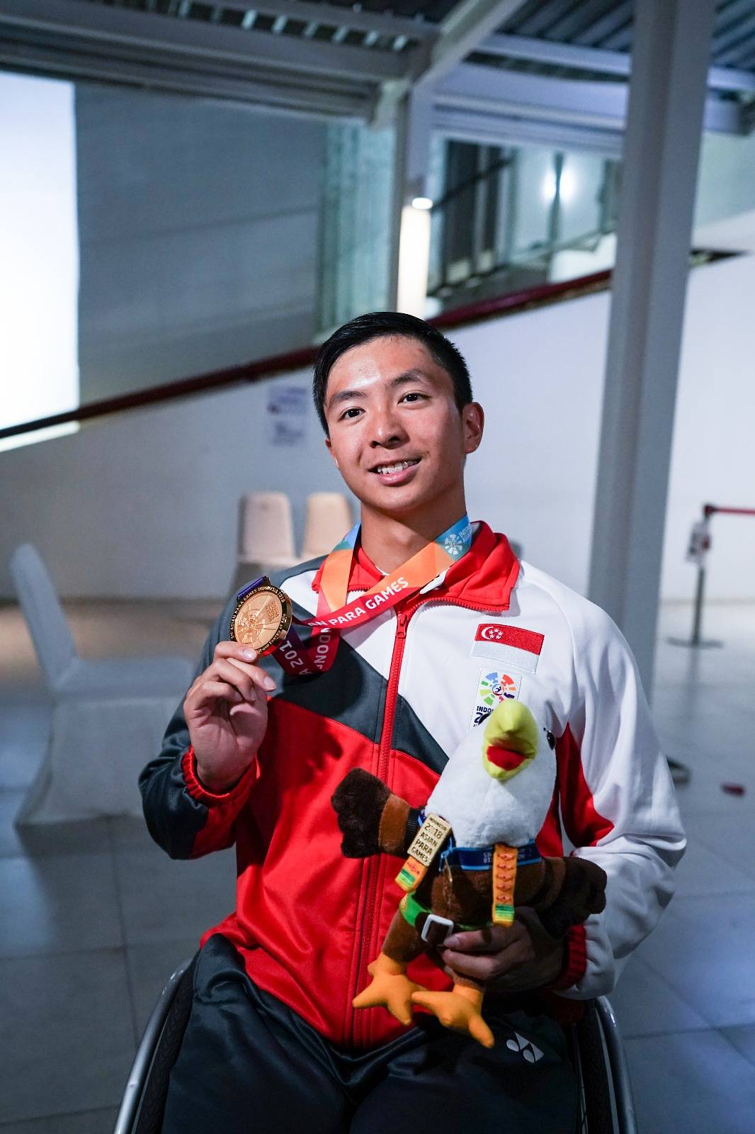 Team Singapore win first gold medal in Asian Para Games with swimming victory