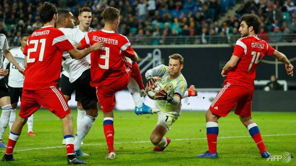 Football: New-look Germany ease past Russia in friendly
