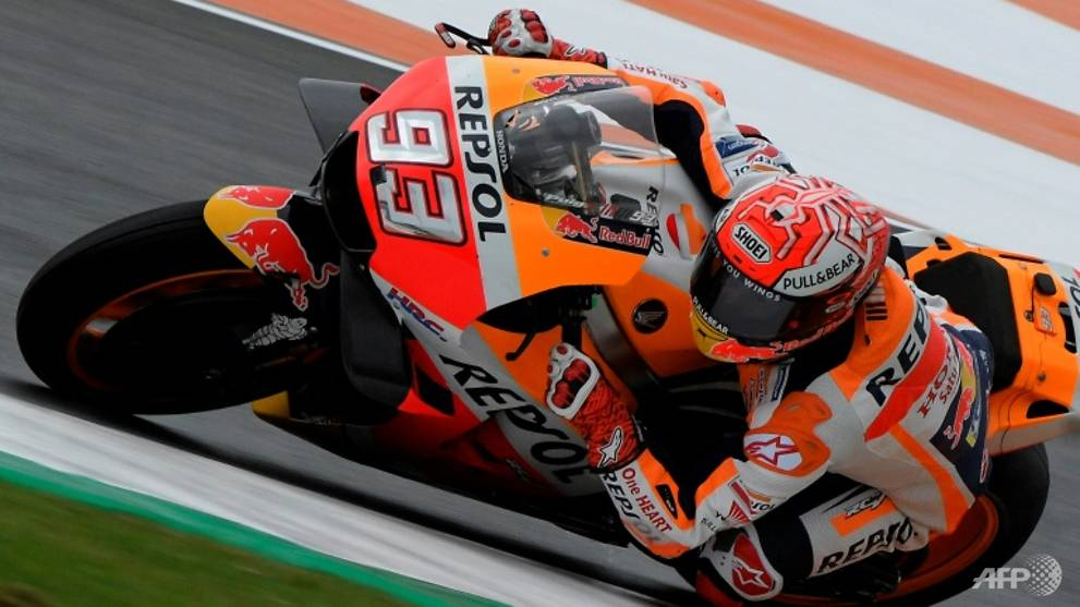 Motorcycling: Champion-in-waiting Marquez tops Valencia Moto GP practice