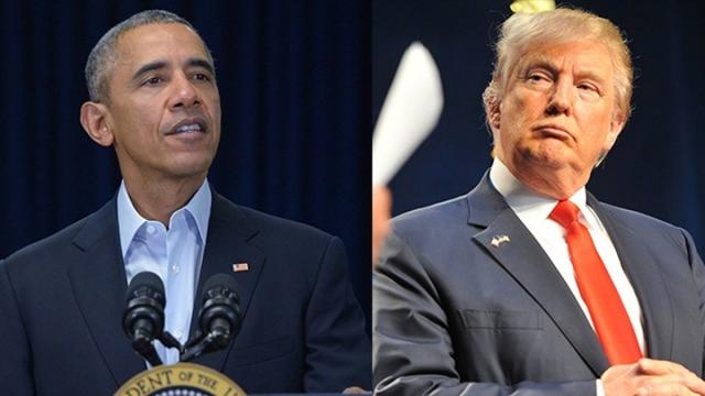 """特朗普与联邦首席大法官掀口水战 奥巴马""""躺枪"""""""