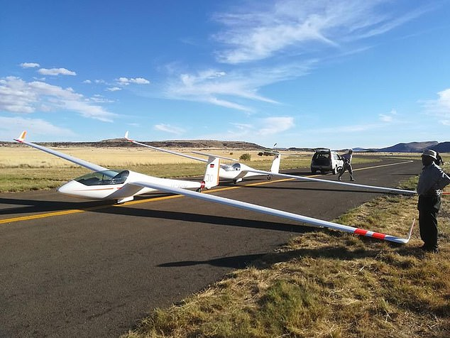 British pilot is killed as his glider slams into a rocky hillside at 150mph after 'deadly spin' during solo flight on his 60th birthday in South Africa