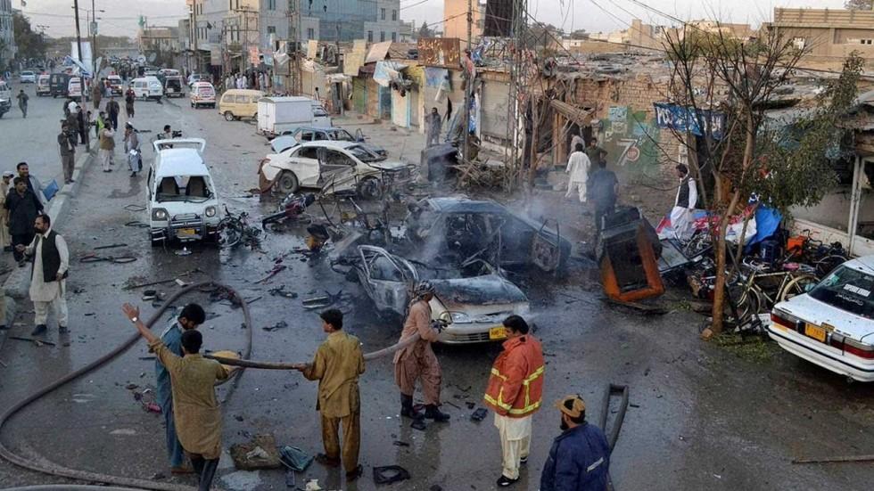 Bomb hidden in vegetables kills at least 25 in Pakistan market blast near border with Afghanistan