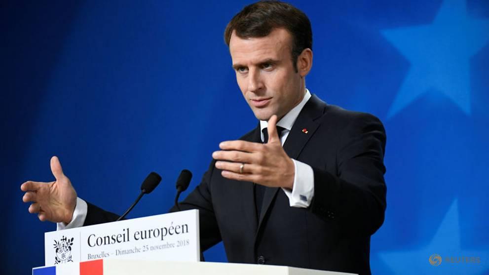 France's Macron praises courage of slain Syrian radio activist Fares