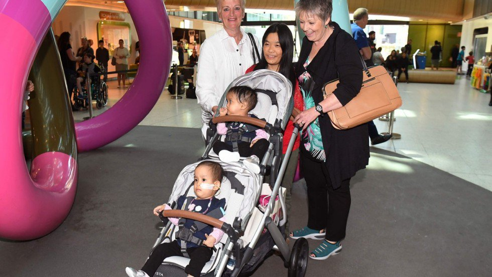 Formerly conjoined twins Nima and Dawa leave Australian hospital after successful separation operation