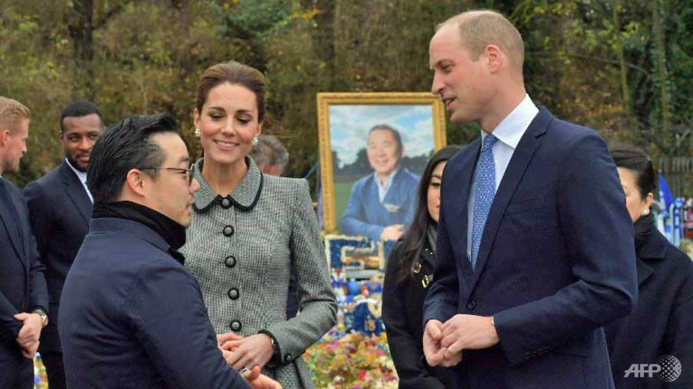 Football: Prince William and Kate pay tribute to Leicester chairman