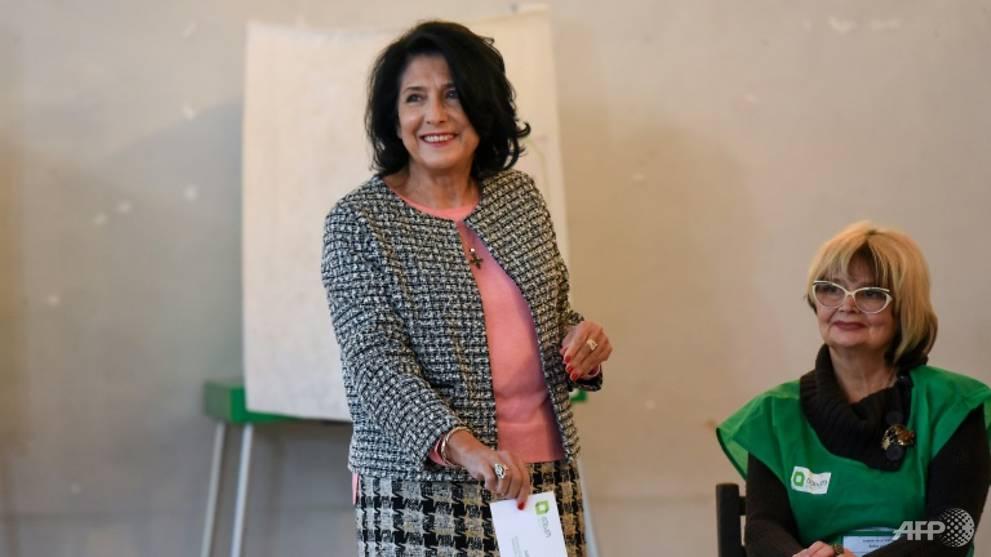 Ex-diplomat Zurabishvili elected Georgia's first woman president