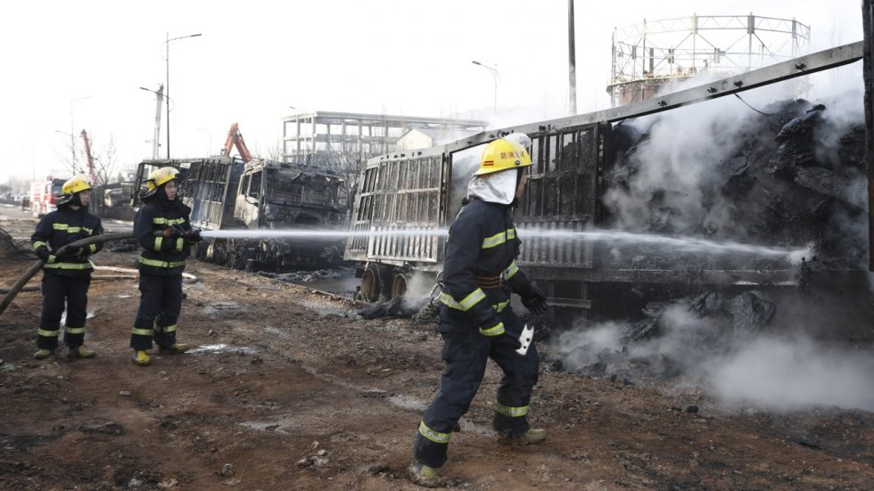 Chinese villagers near site of truck blast that killed 23 people say their air is good and their weather is fine