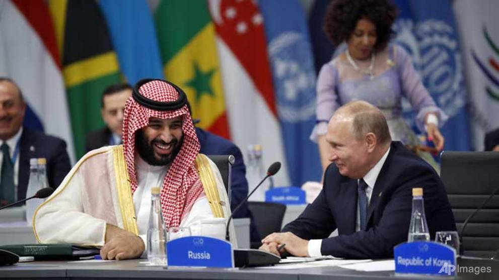 World leaders welcome Saudi prince at G20, Putin delighted
