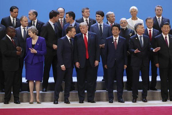 除对老布什辞世致敬 G20领袖对议题几无共识