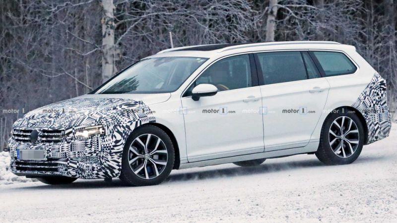 2019 VW Passat Variant makes snowy spy photo debut
