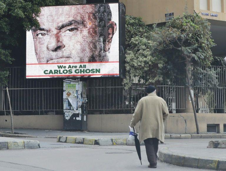 In lebanon, billboards declare 'we are all carlos ghosn'