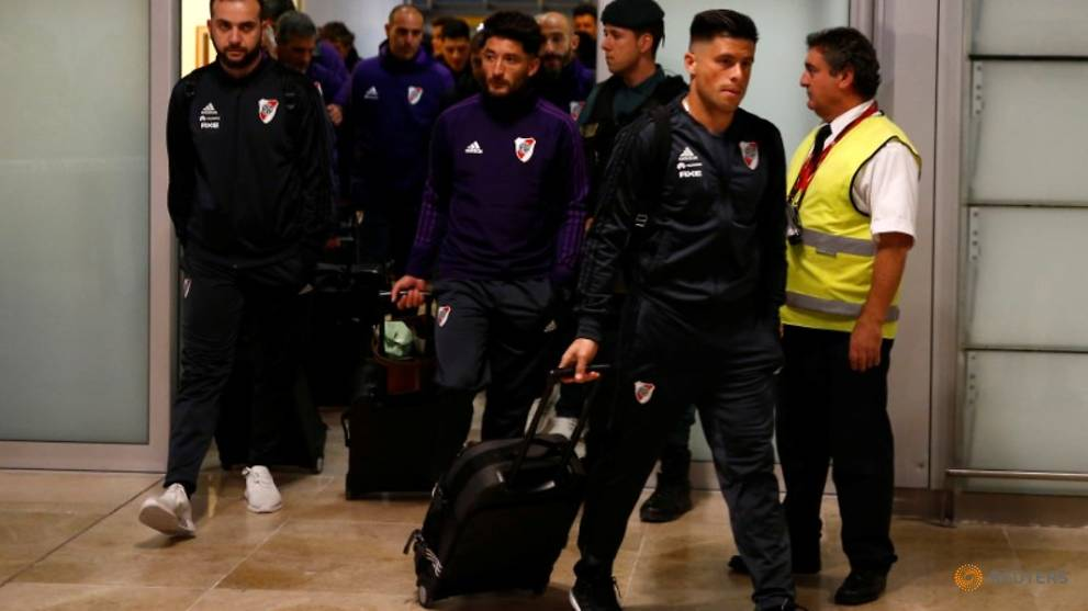 River Plate arrive in Madrid ahead of Superclasico final with Boca