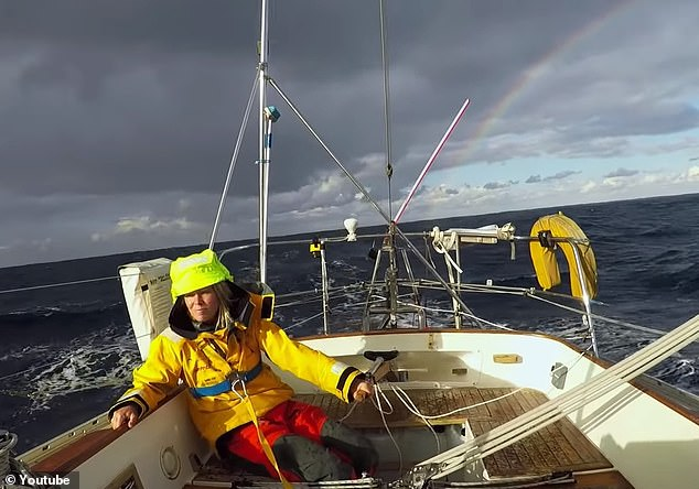 British yachtswoman is rescued two days after she was stranded when storm upended her yacht and knocked her unconscious 2,000 miles from Cape Horn
