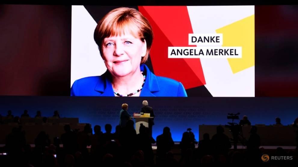 'It's been an honour,' says Merkel as German party picks new leader
