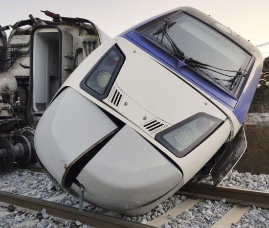韩国高铁发生脱轨事故致至少 14 伤 原因正在调查中