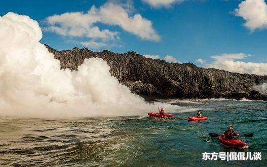 看剽悍的歪果仁在1200度的熔岩旁嬉戏,简直用生命在玩耍