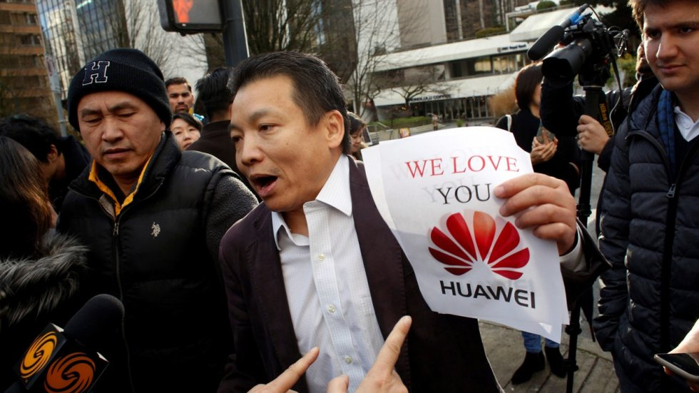 It's all the way with Huawei, as Sabrina Meng Wanzhou's supporters converge on Canadian courtroom