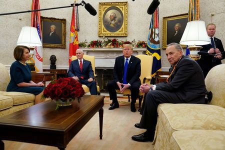 In heated on-camera clash, trump fights with top democrats on border wall