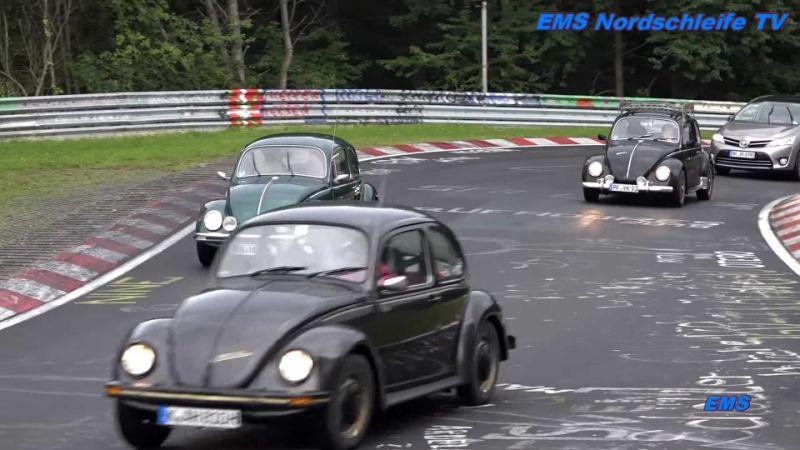 Watch classic VW Beetles invade the Nürburgring