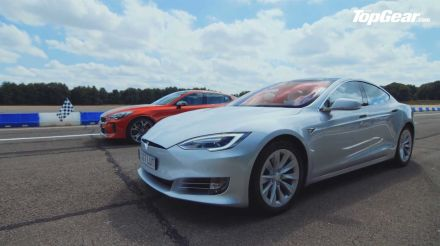 Kia Stinger GT S takes on Tesla Model S in Top Gear drag race