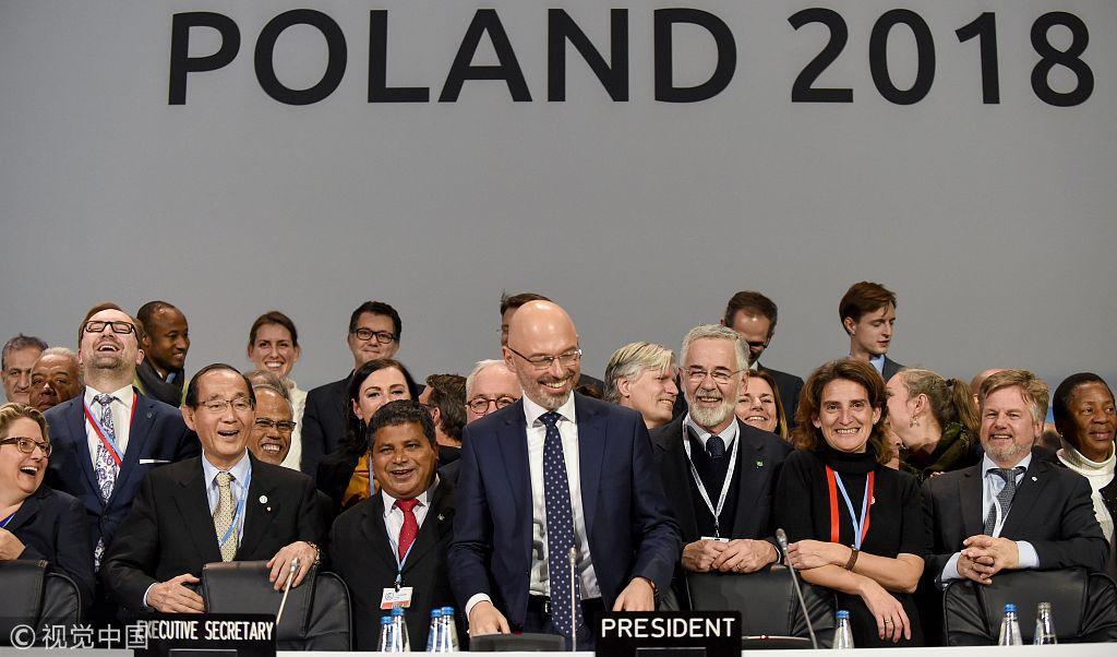 联合国气候变化大会顺利闭幕 通过《巴黎协定》实施细则
