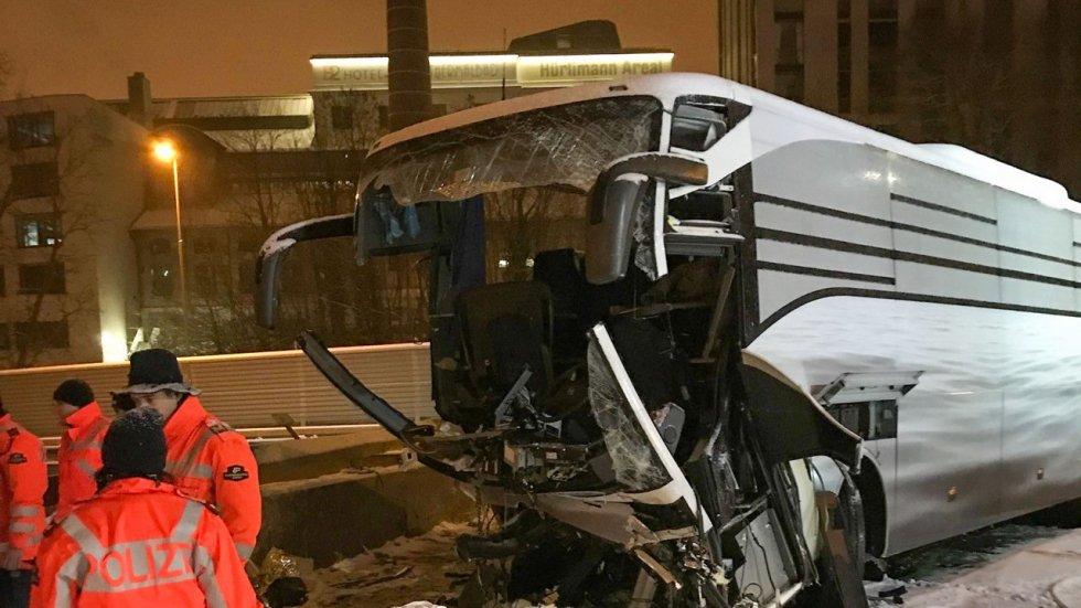 One dead, dozens injured in coach crash in Switzerland