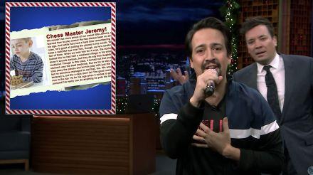 Lin-manuel miranda and jimmy fallon sing 2018 hits, holiday style