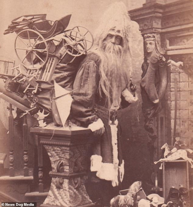 He sees you when you're sleeping...! Terrifying 19th Century depictions of Santa Claus show how Father Christmas was not always a jolly man in red